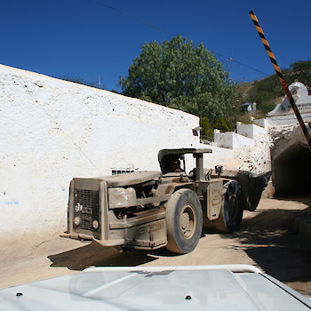 Loader Entering San Martin Mine