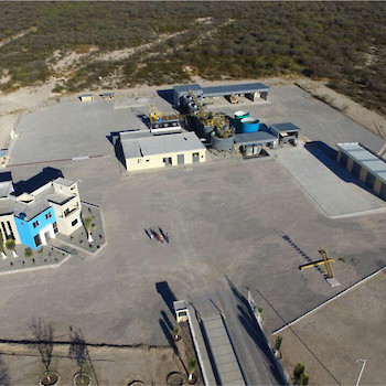 Aerial view of the Altiplano concentrate processing facility.