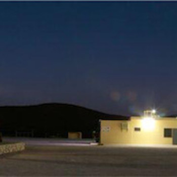 Night time operation of the Altiplano facility.